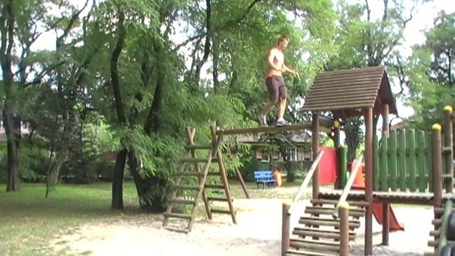 Double backflip na spontanie